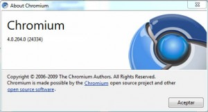 chrome 4 about