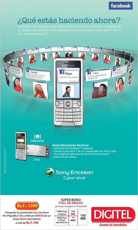 Sony Ericsson C510 de promoción en Digitel