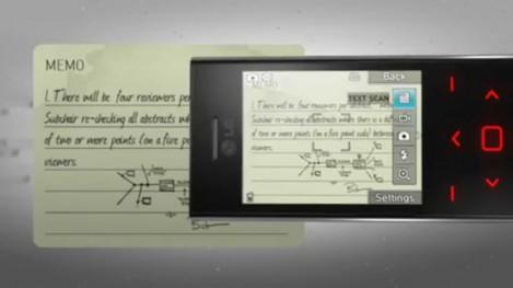 LG Chocolate BL20 textscan