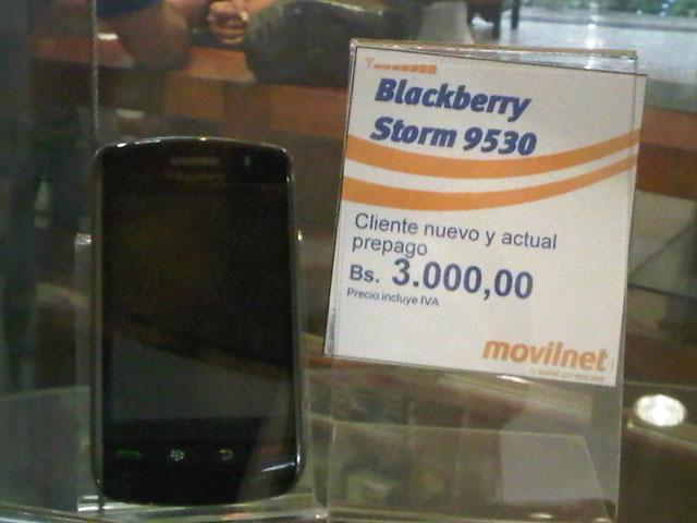 El Blackberry Storm 9530 ya se puede adquirir en Movilnet a un precio