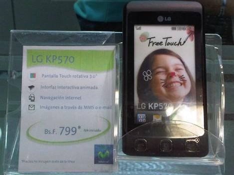LG KP570 promoción