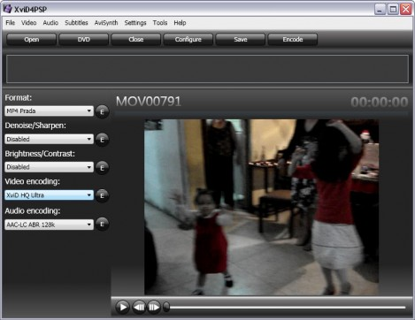 Selecciona formato y codec de video