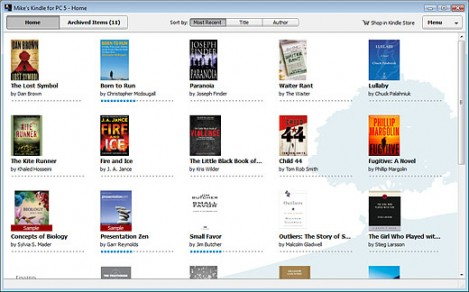 Amazon Kindle for PC - screenshot