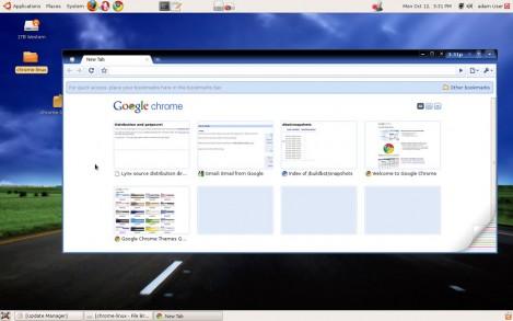 google chrome os screenshot - no official