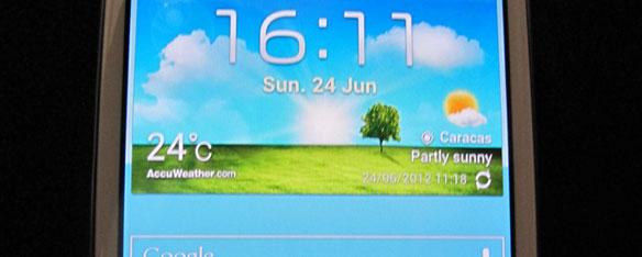 problema de hora incorrecta en el widget del clima del On widget clima samsung