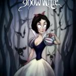 princesas-estilo-tim-burton-blanca-nieves