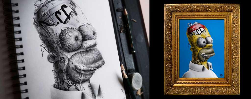Distroy Nos Presenta Dibujos Bizarros De Nuestros Personajes Favoritos